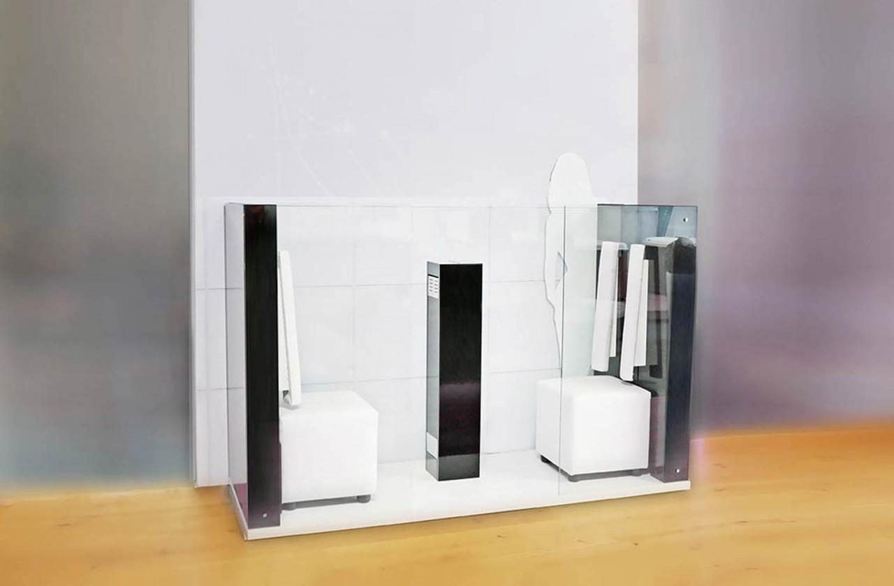 Infrarotkabine für 2 Personen, besonders klein, fürs Bad (Achtung: neue Rückenlehnen wie bei AIR solo!)